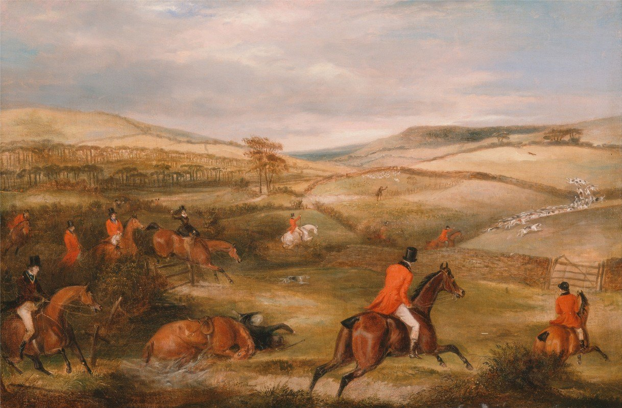 Francis Calcraft Turner - The Berkeley Hunt, 1842- The Chase