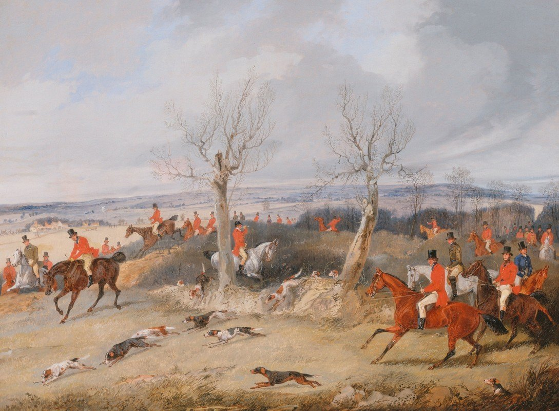 Henry Thomas Alken - Hunting Scene: In Full Cry