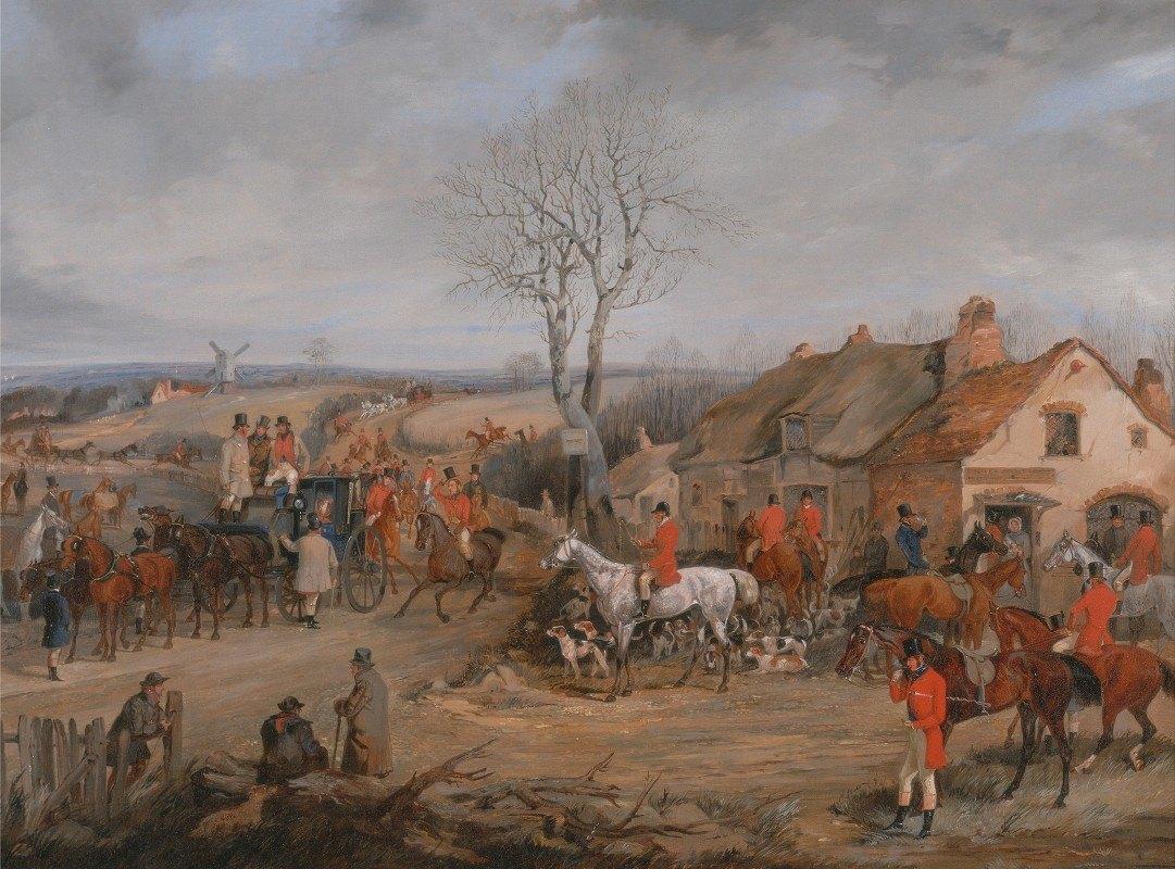 Henry Thomas Alken - Hunting Scene: The Meet