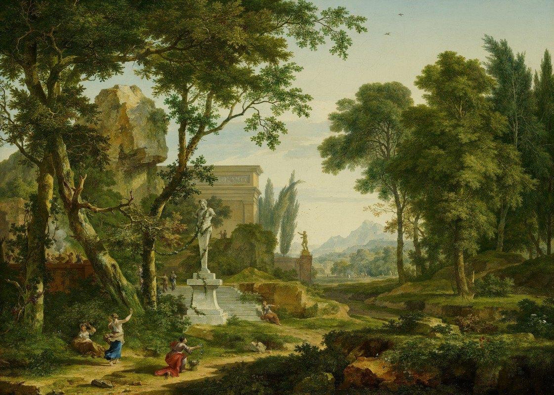 Jan van Huysum - Arcadian landscape