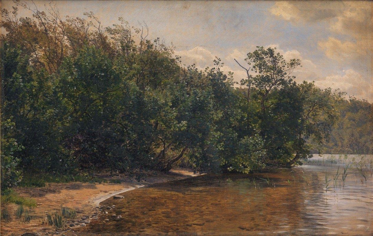 Janus la Cour - Ellebuske ved Almind Sø