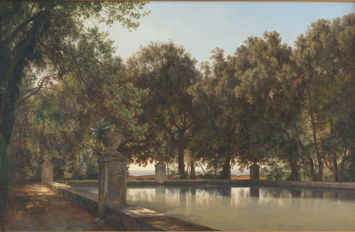 Janus la Cour - The Gardens of the Villa d'Este, Tivoli