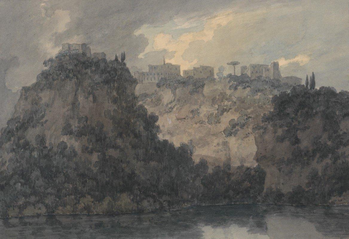 John Robert Cozens - On the Lake of Nemi