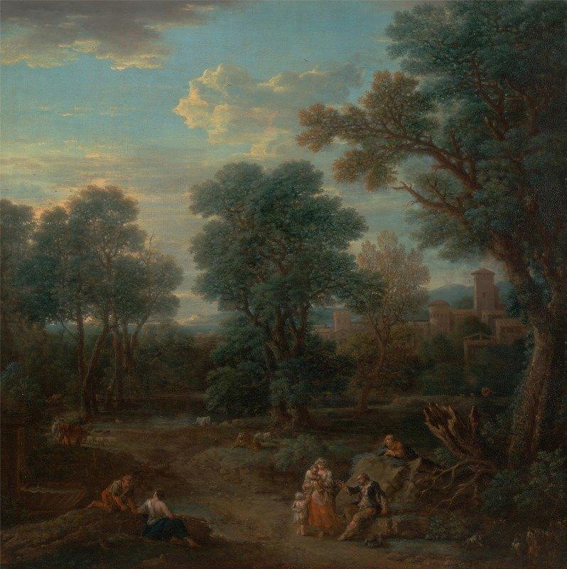 John Wootton - Classical landscape: morning