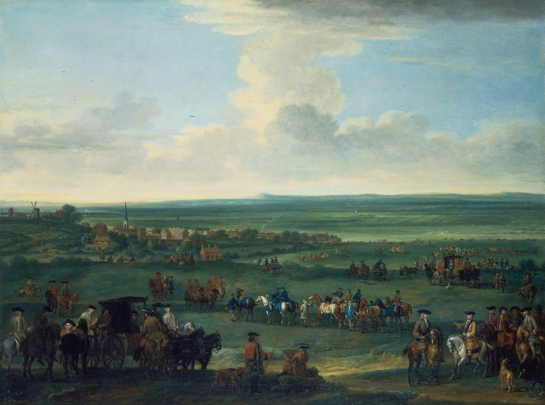 John Wootton - George I at Newmarket, 4 or 5 October, 1717