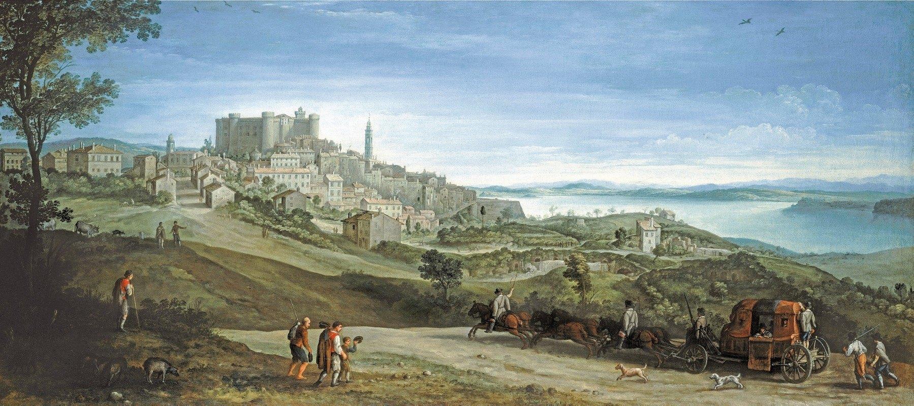 Paul Bril - View of Bracciano