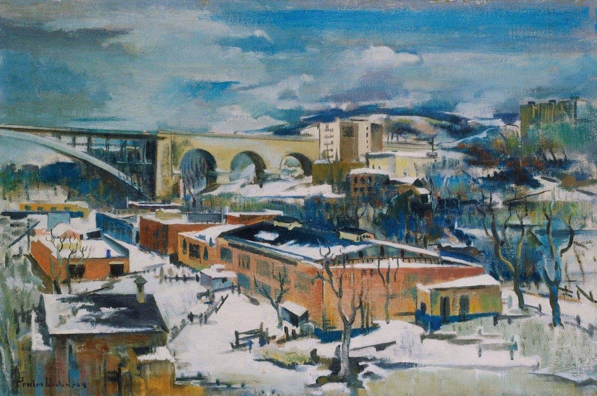 Preston Dickinson - Winter, Harlem River