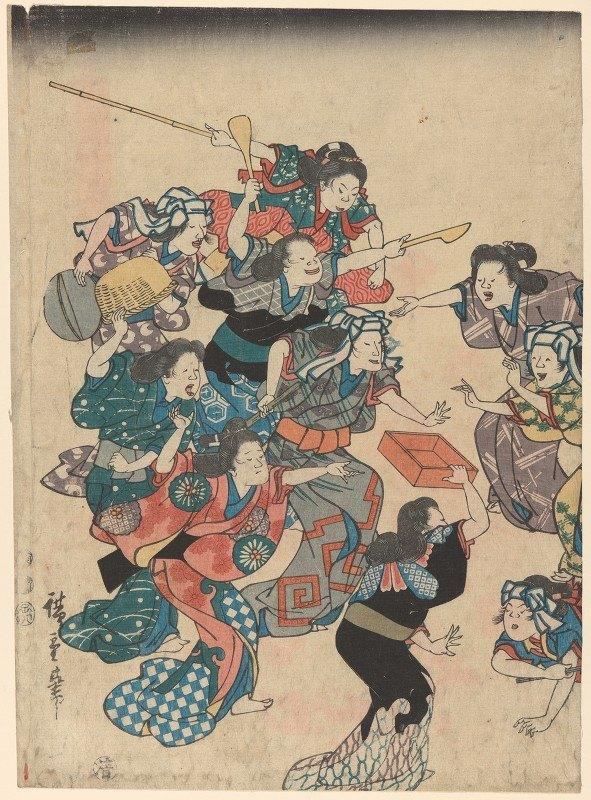 Andō Hiroshige - Servants' Quarrel