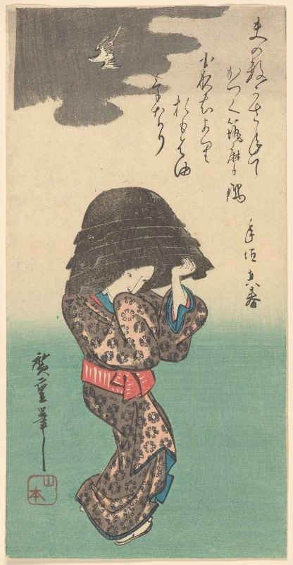 Andō Hiroshige - Woman with Kettle