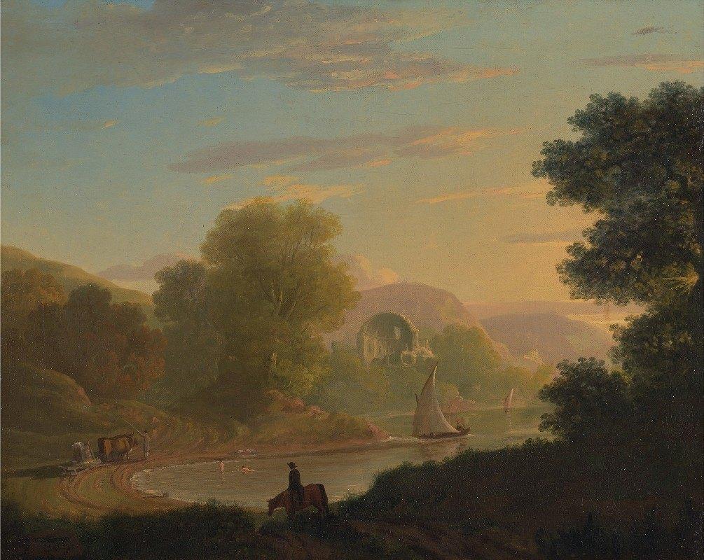 Thomas Jones - An Imaginary Coast Scene, with the Temple of Venus at Baiae