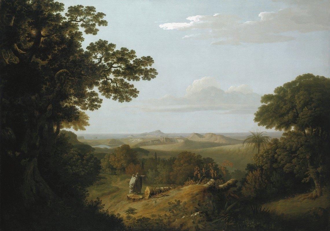 Thomas Jones - View of the Campi Flegrei from the Camaldolese Convent near Naples