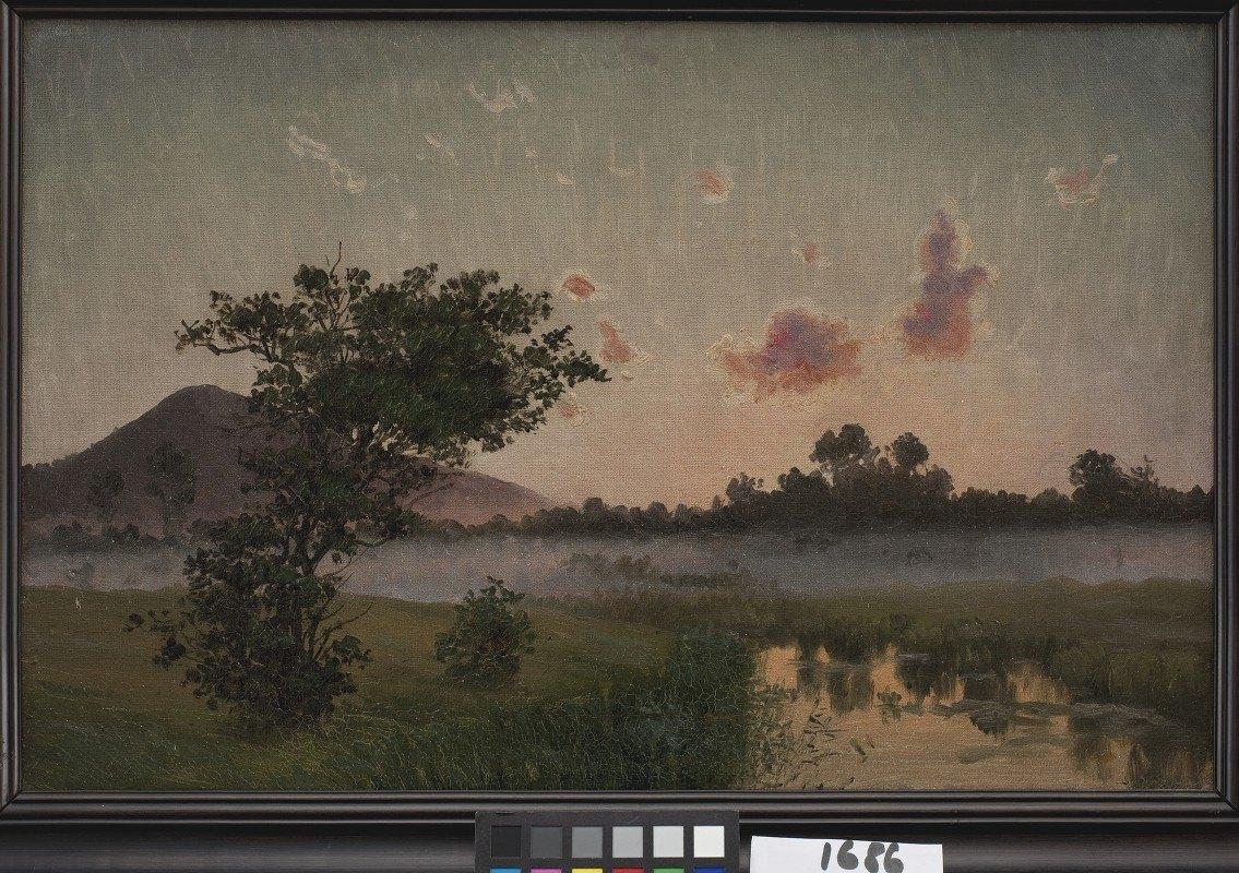 Vilhelm Kyhn - A Summer's Evening near Ry