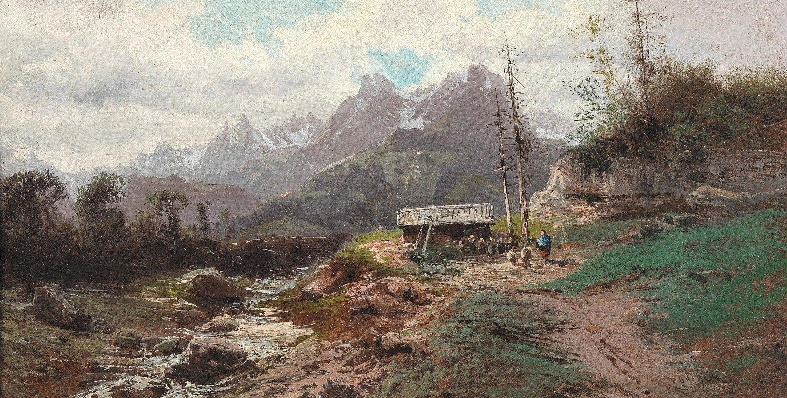Alfred Godchaux - A Wild Mountain Landscape