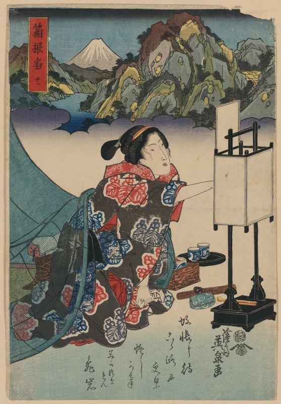 Keisai Eisen - Hakone shuku