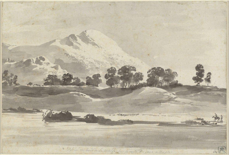Jean Jacques De Boissieu - Mount Cairo from across the Melfa River