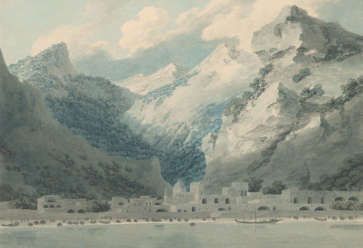 John Robert Cozens - Cetara on the Gulf of Salerno