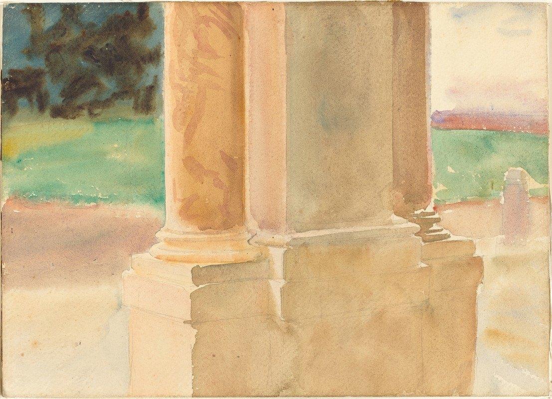 John Singer Sargent - Frascati, Architectural Study