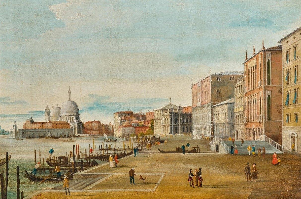 Marco Grubacs - Venice, a View of the Molo and Santa Maria della Salute in the Background