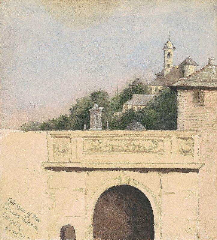Marietta Minnigerode Andrews - Glimpse of the Palazzo Doria,Genova
