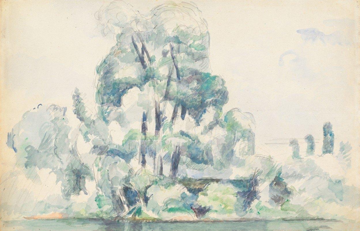 Paul Cézanne - Banks of the Seine at Médan
