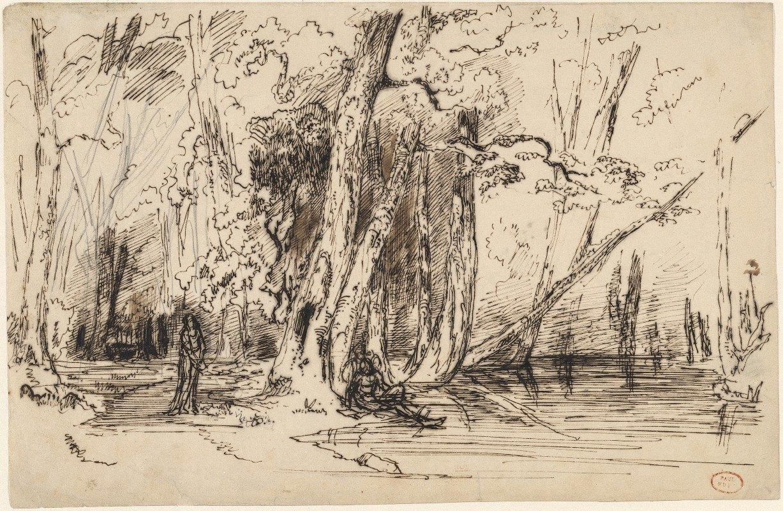 Paul Huet - Flooding in the Forest of the Ile Séguin