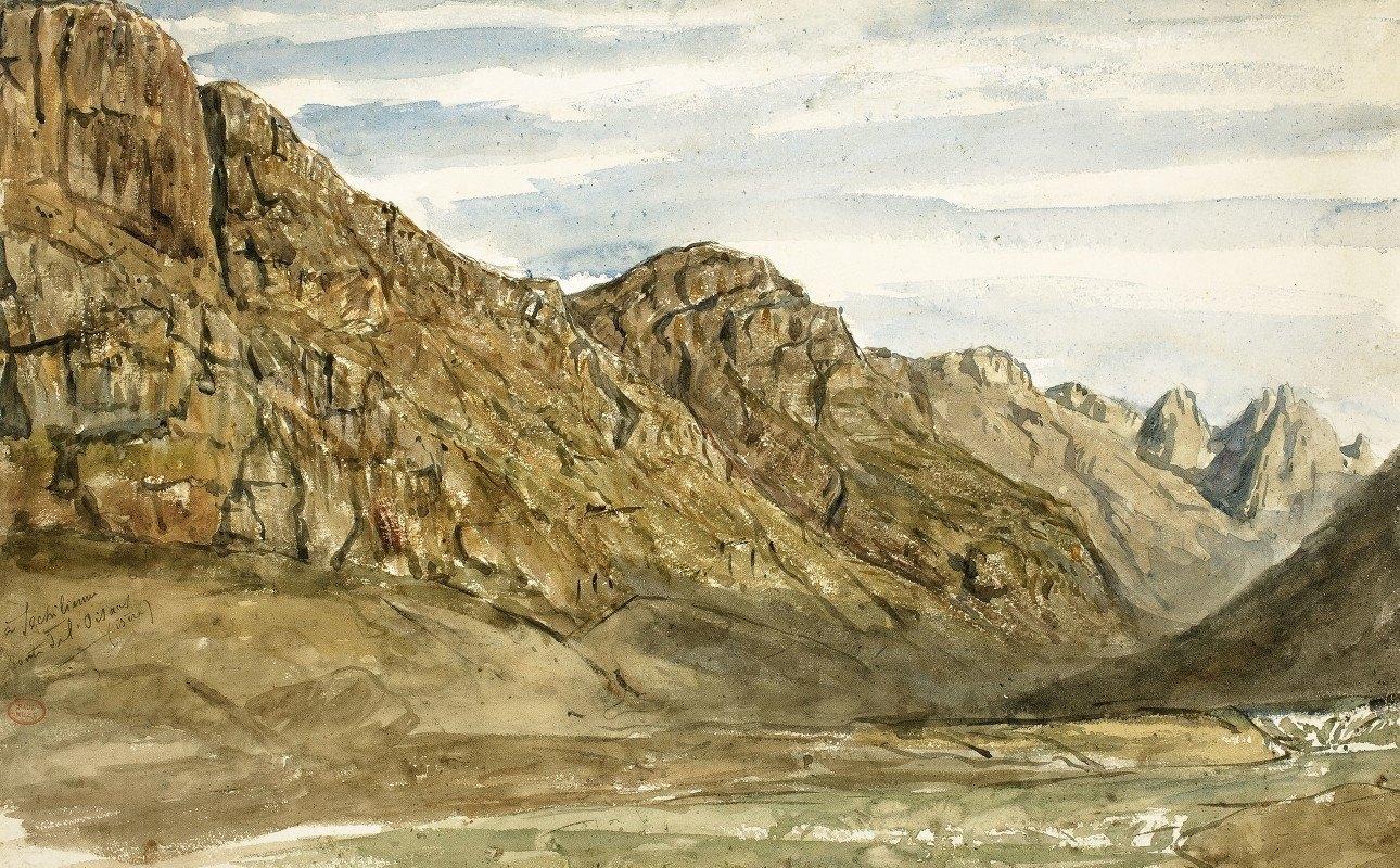 Paul Huet - Rock Cliffs along the Romanche