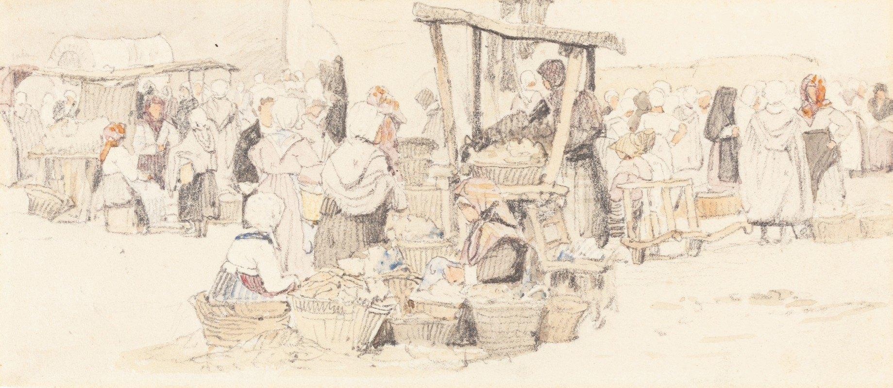 Samuel Prout - An Outdoor Market