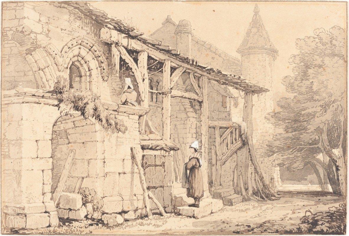 Samuel Prout - Scene at Jumièges