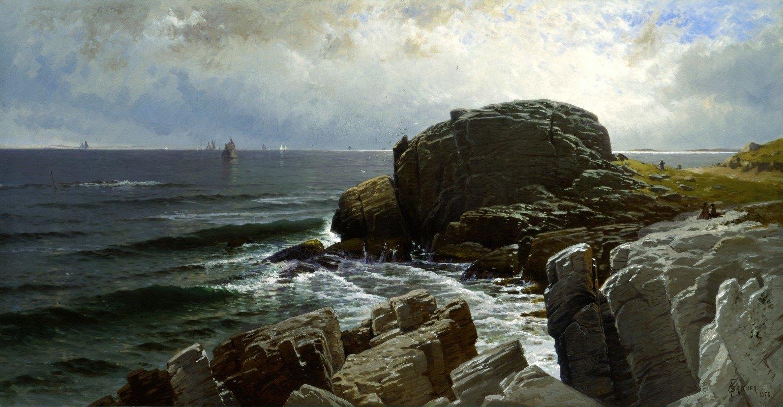Alfred Thompson Bricher - Castle Rock, Marblehead