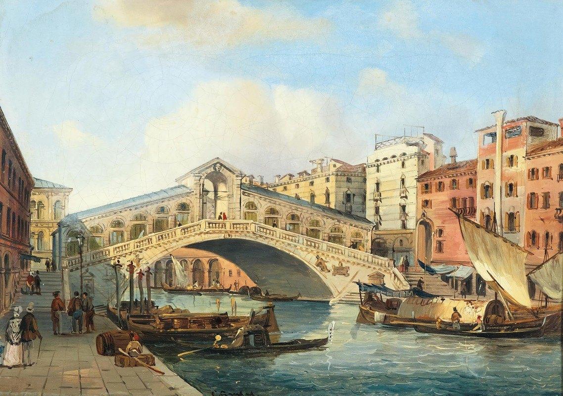 Carlo Grubacs - Venice, the Grand Canal with the Rialto Bridge