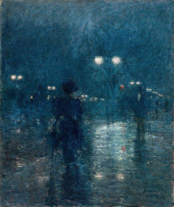 Childe Hassam - Fifth Avenue Nocturne