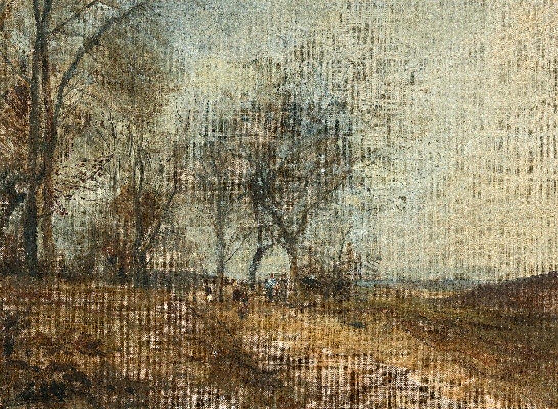 Emil Jakob Schindler - Danube meadows