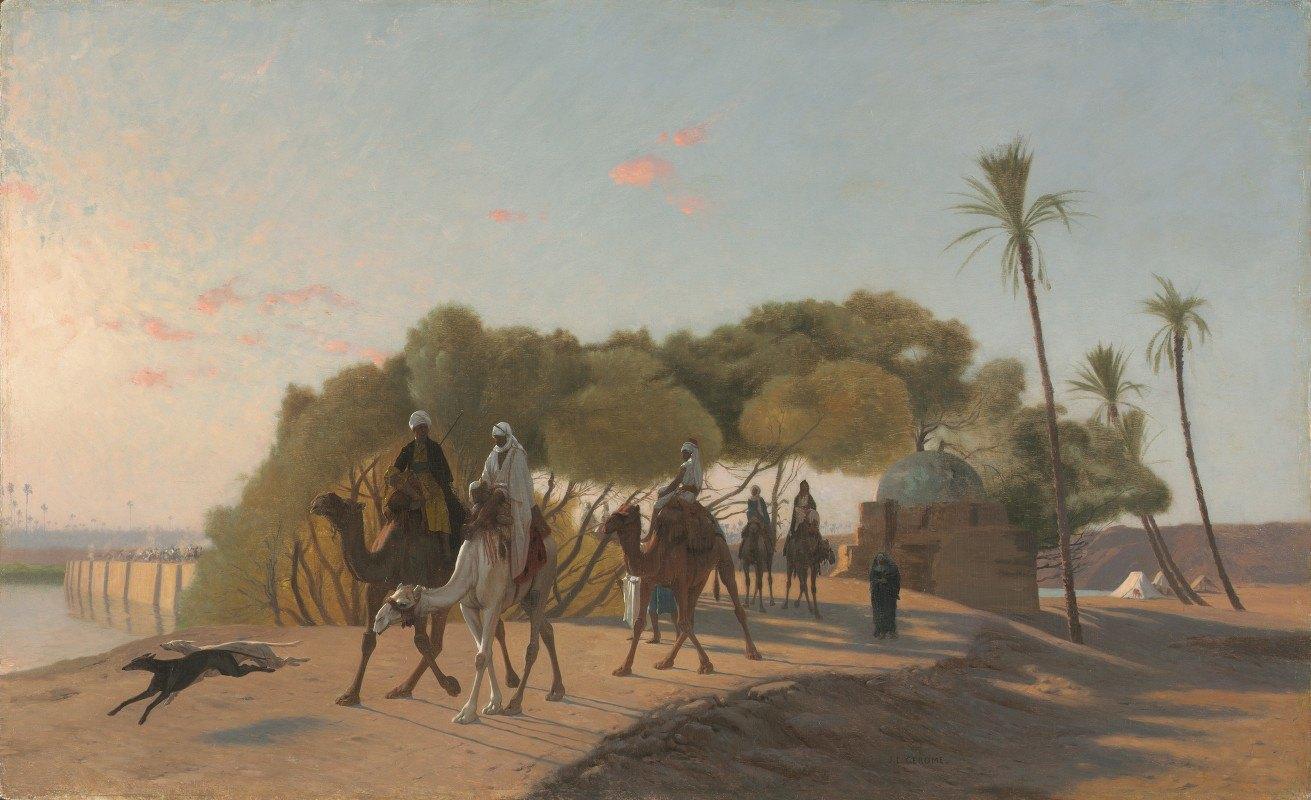 Jean-Léon Gérôme - Leaving the Oasis