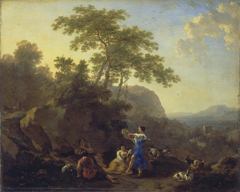 Nicolaes Pietersz. Berchem - The Musical Shepherdess