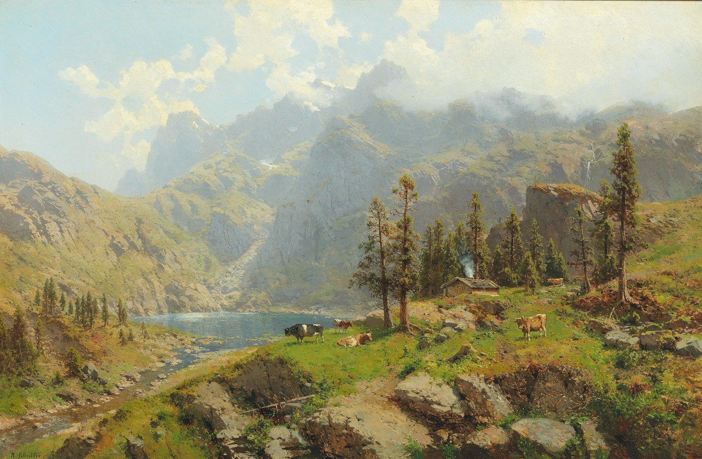 Robert Schultze - The Murgsee in Switzerland, Glaris
