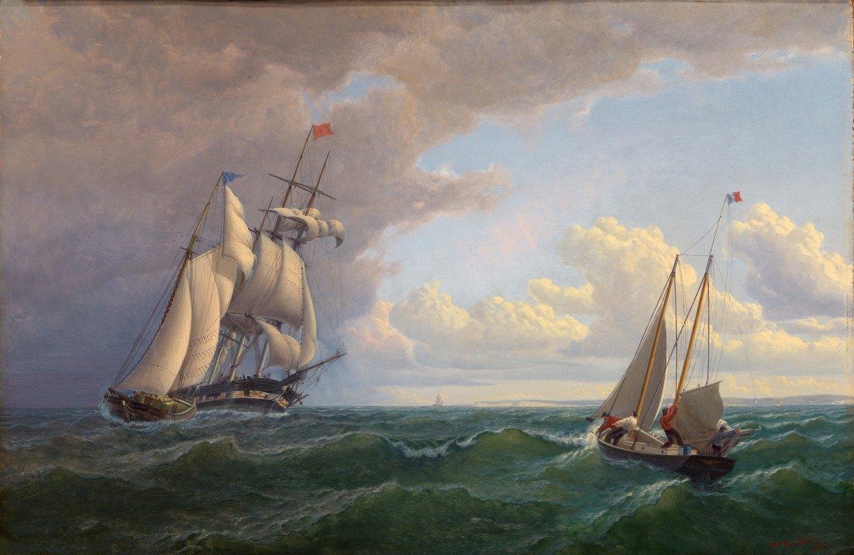 William Bradford - Whaler off the Vineyard–Outward Bound