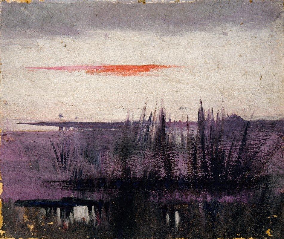 Abbott Handerson Thayer - The Sky Simulated By White Flamingoes Study For Book, Concealing Coloration In The Animal Kingdom