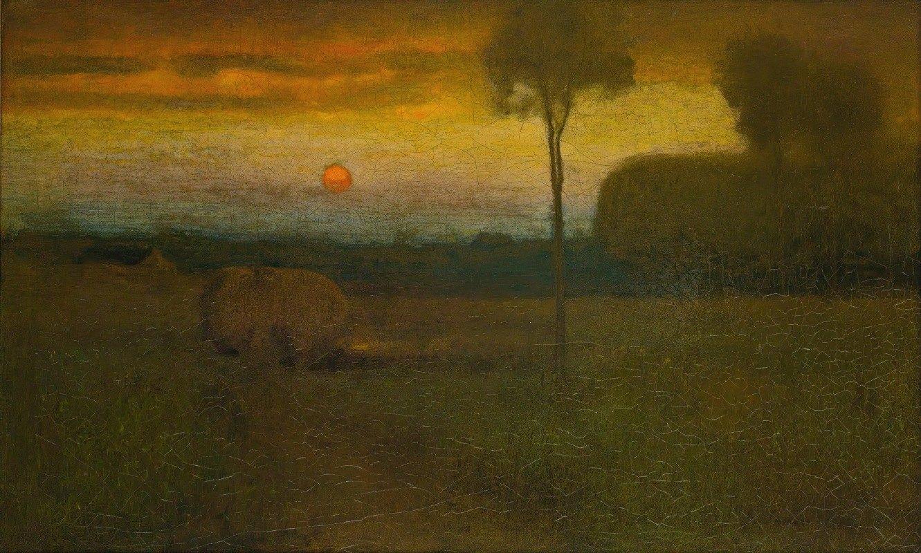 George Inness - Landscape (Evening Landscape)