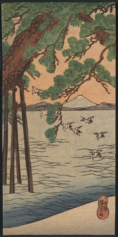 Utagawa Kuniyoshi - Kisibe no matsu