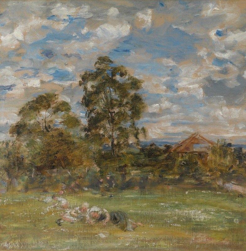 William Mctaggart - Summer In The Garden, Broomieknowe
