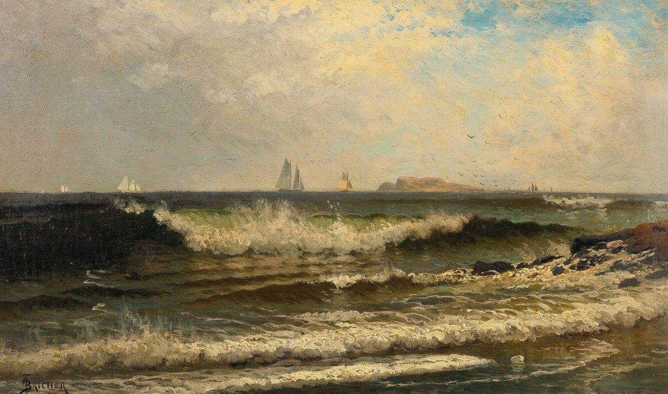 Alfred Thompson Bricher - Breaking Waves