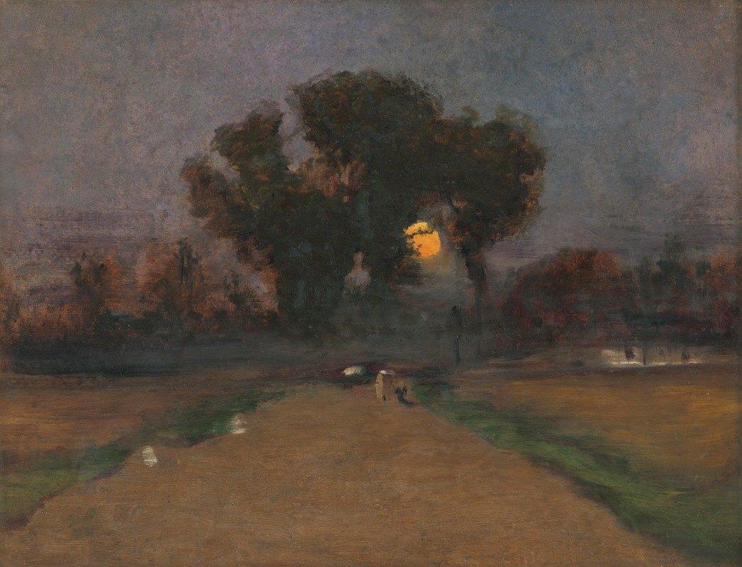 Ladislav Mednyánszky - Landscape with setting sun