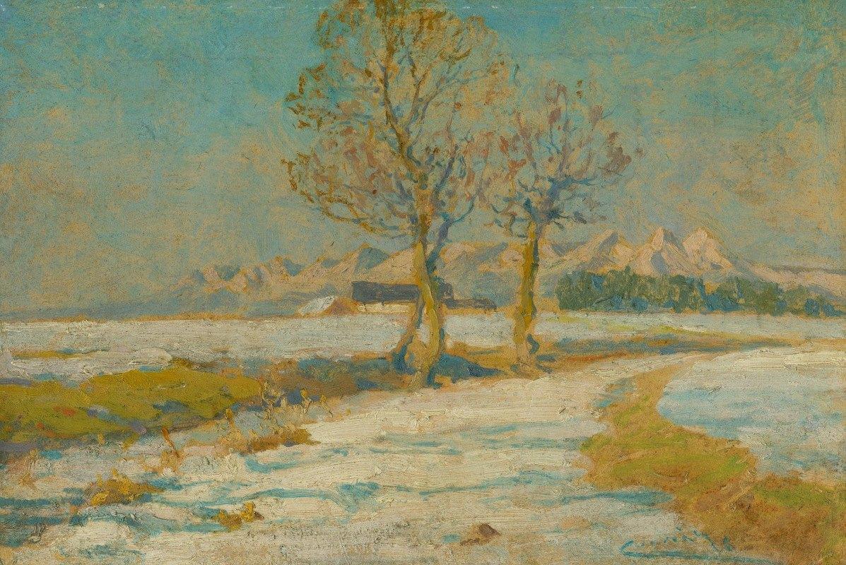 Ľudovít Čordák - Winter landscape under the Tatras