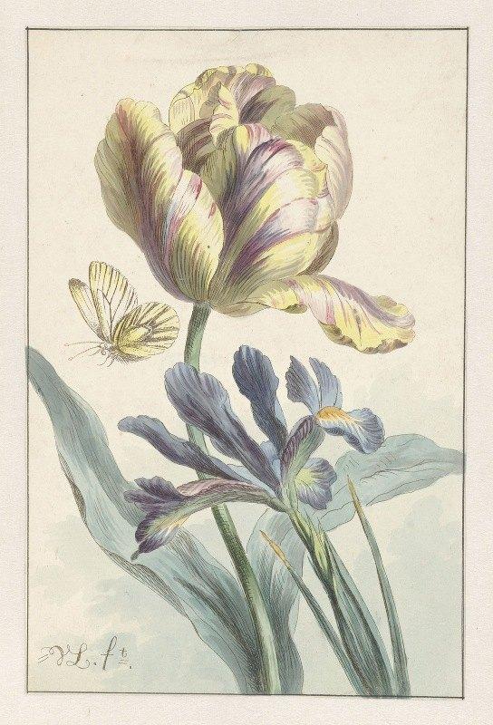 Willem van Leen - Tulp en iris