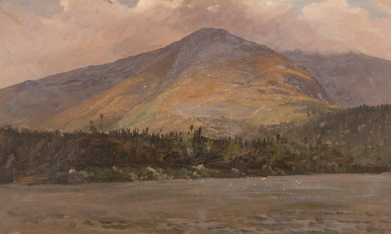 Frederic Edwin Church - Mt. Katadhin, Showing Pomola and the Great Basin from Sandy Bottom Pond