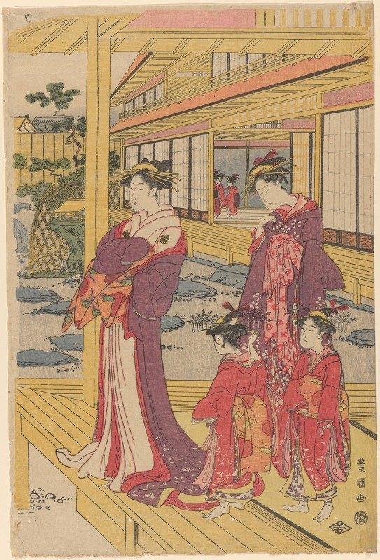 Toyokuni Utagawa - Courtesans and Attendants