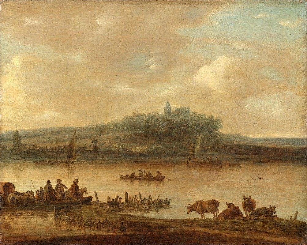 Jan van Goyen - Gezicht op de Rijn en de Elterberg