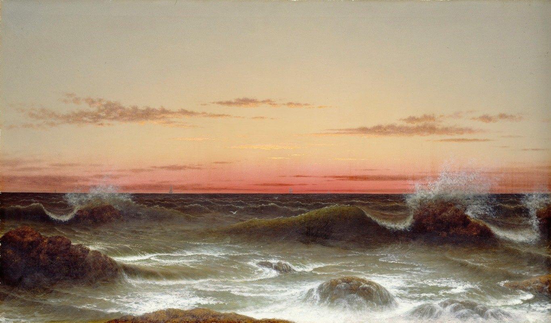 Martin Johnson Heade - Seascape; Sunset