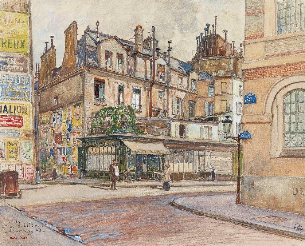 Frédéric Houbron - Angle rue Mabillon et rue Clément, en 1907. 5ème et 6ème arrondissements