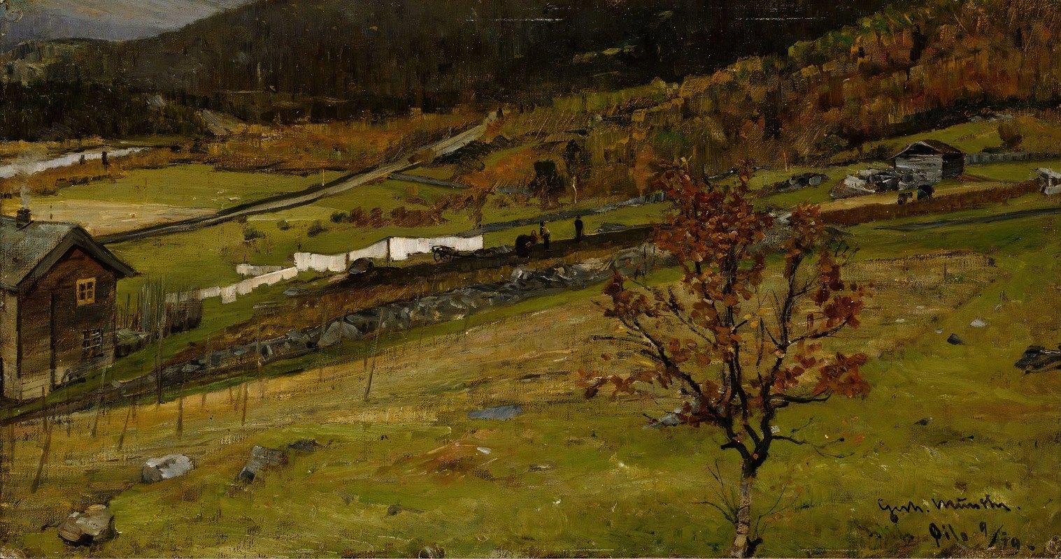 Gerhard Munthe - Autumn Landscape, Øylo